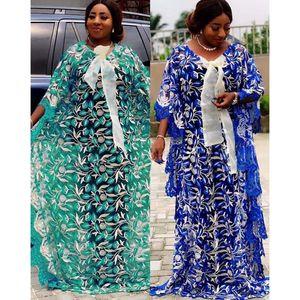 Kadınlar dashiki Gevşek Dantel Afrika Elbise Afrika Giyim Bazin Nakış Robe Abay Dubai Müslüman Uzun Elbise için yeni Afrika Elbiseler