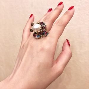 9KQB2020 fashion trend glossy semi-closed scale snake bone ring