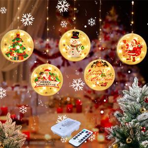 Natale LED Decorative lanterna Star Light Per la casa Struttura della sala Alberi di Natale Babbo Natale luce di notte di natale trasporto libero del pendente