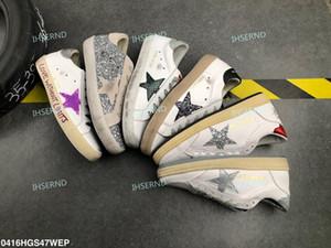 Amor Multicolor Ouro Superstar Gooses Sneakers Homens Mulheres clássica Branca Do-velho sujo Casual sapatos tamanho 35-39