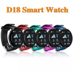 D18 Pulsera inteligente Fitness Tracker Smart Watch Presión arterial Pulsera Pantalla Sport Watch con caja de venta al por menor