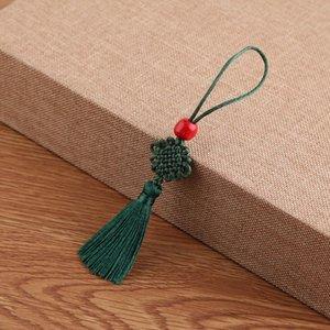 5 Unids Beads Red Mini Knot Chino Tassel DIY Accesorios de Joyería DIY Hogar Textil Cortina Ropa Costura Macrame Decoración Colgante H Jllykyv