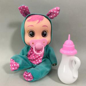 3D Reborn Bebe Dolls 8 дюймов сюрприз с разрывом ребёнок девочка игрушки милые животные платье кукла кормить игрушку день рождения подарок для детей