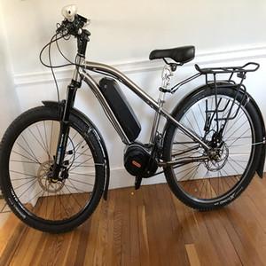 Новый дизайн Titanium Bike Bike Рама с Bafang Bridge / Shimano Gear Box Electric Case Электрический велосипедная рамка