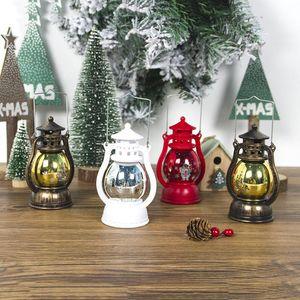 LED da lâmpada da lanterna do feriado do Natal Retro Vintage de suspensão Ano Novo Candlelight Feliz Natal portátil Luzes LED BWD2880
