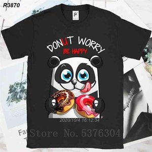 Donut Endişe Mutlu Panda ile Donuts Erkek T-Shirt 4519410 Gülen Be