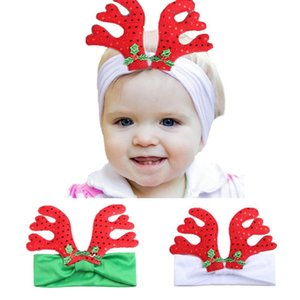 0-3Y Baby Christmas Cute Cartoon Antlers Hairband Headwear Girl Hair Accessories Headband w