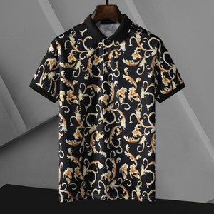 Herren Polo Shirt Druck Stickerei Top T-Shirts für Italien Mode Polos Hemd Männer High Street Baumwolle Tags Tops T Shirts
