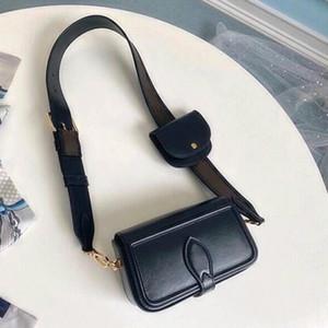 جلد طبيعي عبر هيئة كيس حزام مجموعة التوأم حقيبة الكتف أزياء حقيبة يد للنساء طويل النظر كيس صغير حزمة الكتف سيدة