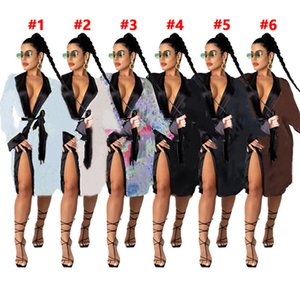 Summer Women night-robe sleepwear long sleeve pajamas night skirt dress plus size 2X nightwear sexy night-robe nightclothes DHL SHIP 4258