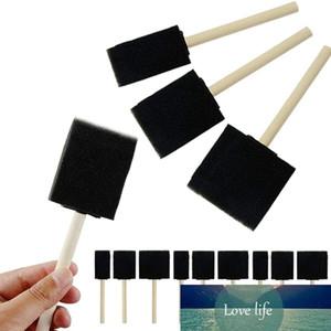 63 Pieces of Foam Paint Brush Sponge Foam Brush Painting Set Wooden Handle Paint Brush Tool for Children's Drawing Set