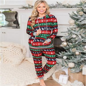 2021 Ladies Long-Sleeved Christmas Plaid Print Hooded Sweater Trousers Leggings Two-Piece Suit Fashion Casual Home Service LY11023