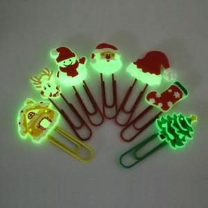 1pcs Christmas Christmas Bookmarks PVC Lumineux Papier Papiers Panneaux School Papetery Office Fournisseur d'étudiants