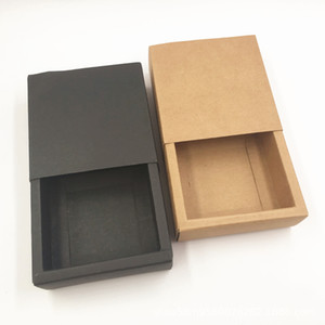 300gsm Kraft Paper DIY Blank Gift Boxes Foldable Jewelry Drawer Boxes Handmade Craft and Household Accessories Storage Package Boxes