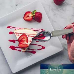 2pcs En acier inoxydable Chef Décoration Crayon ACCESSOIRES D'ACTIVES D'ANTI-Slip Dessin Sauce Portable Sauce Peinture Cuillère Cuisine Cuillères Cuisine