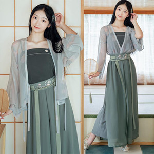 Ancient Traditional Chinese hanfu Dress Elegant Folk Princess Fairy Dance Costume Retro Tang Dynasty Cosplay Stage Wear DWY4401