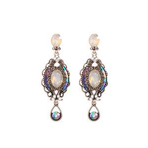 BALANBIU Luxury Crystal Resin Acrylic Special Design Drop Earring For Women Gift Alloy Dangle Earrings Fashion Jewelry Accessory