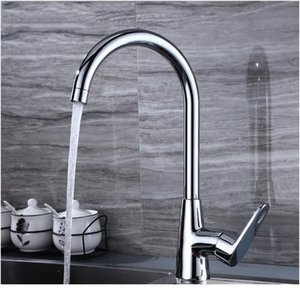 Sianco Rotatable Chrome Brass Kitchen Faucet Single Hole Hot & Cold Mixer Tap Deck Mounted Besin Sin jllPZw