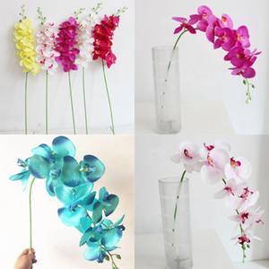 단일 나비 난초 인공 꽃 플라스틱 폴리 에스테르 섬유 93cm 실크 꽃 웨딩 크리스마스 장식 꽃 4 9sm의 G2