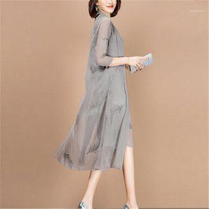 Рабочие платья костюмы женские три четверти рукава длинные куртки длина колена мать невесты платье плюс размер формальные свадьбы гость 2 шт.