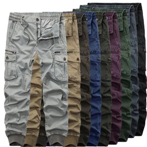 Mens Outdoor Cargo Pants Fashion Occident Trend Hip Hop Multiple Pocketst Pants Spring Male Zipper Buttons Skateboard Casual Loose Trousers