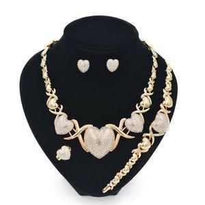 Conjunto de jóias XOXO para mulheres colares Brincos 14k conjuntos de jóias de ouro para mulheres brincos de jóias de casamento para mulheres