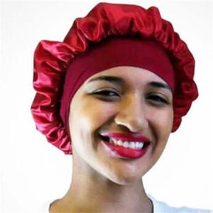 Night Sleep Hat Hair Care Cap Women womens designer hats Fashion Satin Bonnet cap Silk Head Wrap Hair Loss Caps Accessories s555