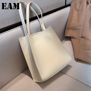 [EAM] Женщины новая краткая элегантная мягкая PU кожаная сумка личности All-Match Crossbody сумка мода прилив 2021 18A1530