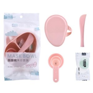 Maschera Bowl Set Piece Bowl trucco di DIY strumento Maquiagem Strumento donne viso Pennello Kit di miscelazione 4 Set Stick Spoon Wveah