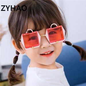 New Brand Sachet Kids Fashion Personality Irregular Frame Metal Children Sunglasses Sun Glasses Girls Boys