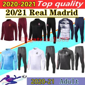 2020 2021 Real Madrid Soccer Tracksuit Chandal 20 21 Rischio Benzema Modric Camiseta de Futbol Sergioio Ramos Giacca da calcio Abito da allenamento