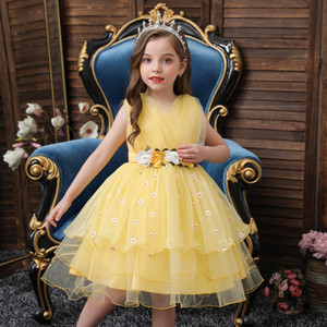 Resmi elbise Prom Küçük Kız Bebek Doğum Elbise Yeni Geliş 2021 Çocuk Kız Düğün Çiçek Kız Elbise Prenses Parti Çocuk Yarışması Abiye
