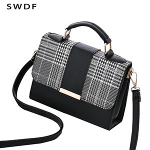 SWDF 2019 Summer Fashion Women Bag Bolsas de viagem Para PU ombro bolsa pequena aba Bandoleira Sacos para mulheres Messenger Bags Bolsa