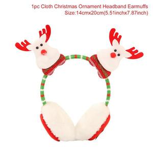 Qifu Santa Claus Snowman Elk Christmas Earmuffs Merry Christmas Decor Christmas 2019 Headband Xmas Gifts Happy New Year Natal jllkpa