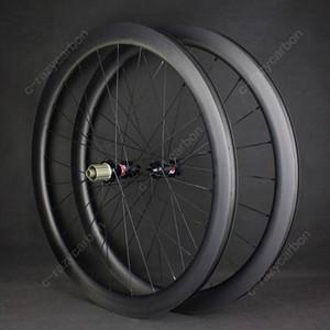 عجلات سباق الكربون من الكربون للبيع ركوب الدراجات 60 عجلات ضوء قرص الفرامل مع DT Novatec 411/412 الكربون 700C لايحتاج