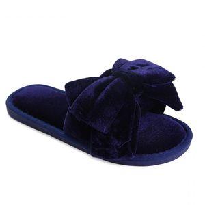 Winter Woman Plush Slippers Bowknot Senhora Sandália Interior Bonito Sole Borracha Sola Faux Fur Girl Slipper Casa Sapatos de Algodão