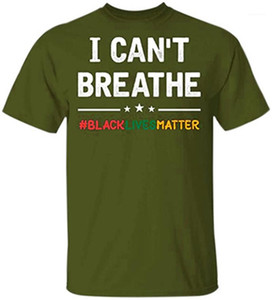 Fashion Letter Black Lives Matter Crew Neck Loose Casual Tops Designer Summer Male Short Sleeve Tees Tshirts I Cant Breathe Man T-shirts