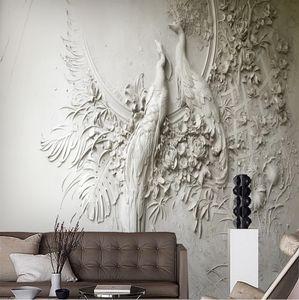 Relief Wallpaper AL-Mulk Custom Wallpaper Mural Self-adhesive Relief Peacock FQ221 Interior Decoration Background Wall Classical Style