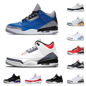 venta caliente Fragmento jumpman 3 para mujer para hombre zapatillas de baloncesto 3s III UNC 2020 Varsity Royal Chicago satinadoJordánFormadores retro zapatillas de deporte
