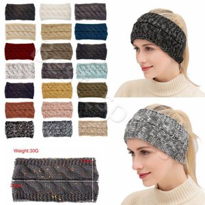 21 Colors Knitted Crochet Headband Women Winter Sports Hairband Turban Head Band Ear Warmer Beanie Cap Festive Party Hats CYZ2864