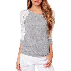womens Hoodies Womens Long Sleeve Sexy Lace Sweatshirts Backless Embroidery Knitted Tops Pullover Drop Shipping Good Quality