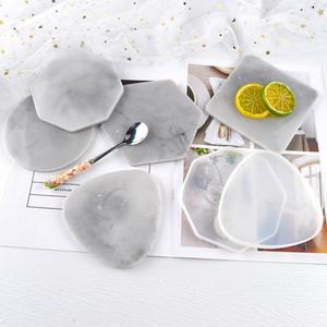 Stampi di casting in resina Forma geometrica Forma di silicone Stampo in silicone Coaster Round Quadrato Gioielli Piastra di collocamento Piastra di collocamento Diagi Silicone resina epossidica GWD4238