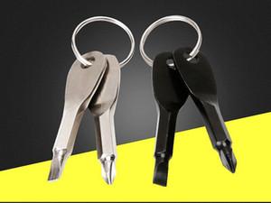 EDC cacciaviti esterno di Keychain tasca 2 colori Shape Mini Set Portachiavi cacciavite chiave driver Phillips vite con intaglio cacciaviti