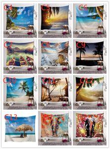 Designs 150 * 130 cm Tapisserie Bohemian Mandala Mandala Hanging Eléphant Plage de plage Chapitre Tapis de Yoga Tapisserie de polyester Decor de la maison EWC3514