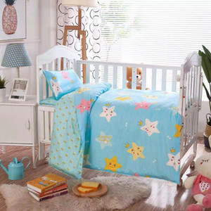 Baby Bedding Set 100% Cotton Crib Sets Baby Cot Set with Quilt Cover Pillowcase mattress cover Children Bed Sheet Bedspread LJ201105