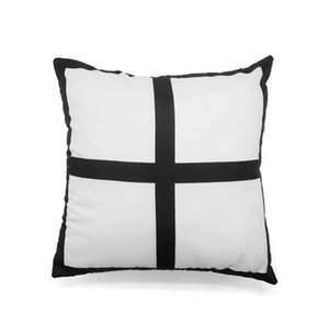 DHL50pcs Winter Pillow case Sublimation Double Sides 4 panel Blank Peach skin velvet heat transfer cushion cover 40*40cm