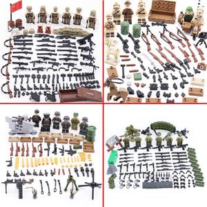Soldados del Ejército Figuras Bloques de arma militar Bloques de construcción Soviética Unión Ejército Soldados Figuras Armas Armas Piezas Ladrillos Toys LJ200928