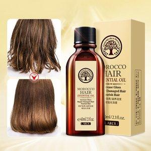 60ML المغربي النقي أركان النفط الشعر الضروري النفط لأنواع الشعر الجافة متعددة الوظائف منتجات العناية بالشعر للمرأة 6 قطع