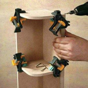 4PCS 90 ° 직각 클립 클램프 코너 홀더 목공 DIY 핸드 툴 세트 7TuO 번호