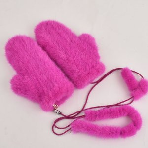 women real mink fur Gloves lovely ladies genuine mink fur Elasticity gloves warm gloves knitted mink